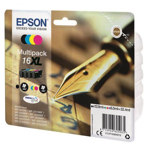 Epson 16XL Inkjet Cartridge Multipack Pen & Crossword C/M/Y/K Ref C13T16364012 [Pack 4]