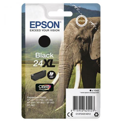Epson 24XL Inkjet Cartridge Capacity 10ml Page Life 500pp Black Ref C13T24314012