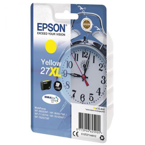 Epson 27XL Inkjet Cartridge Alarm Clock Capacity 10.4ml Yellow Ref C13T27144012