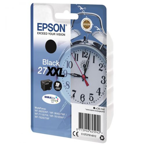 Epson Alarm Clock 27XXL DURABrite Ultra Ink Cart Black Blister Ref C13T27914012