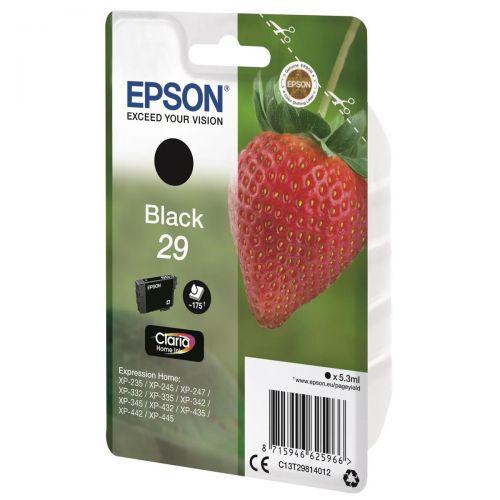 Epson No. 29 InkJet Cartridge 175pp 5.3ml Black Ref C13T29814012