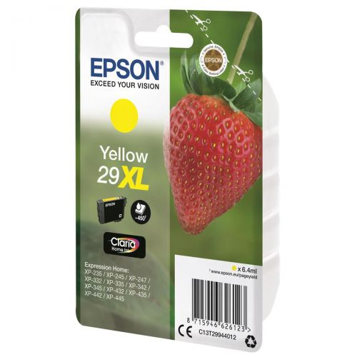 Epson No. 29XL InkJet Cartridge 450pp 6.4ml Yellow Ref C13T29944012