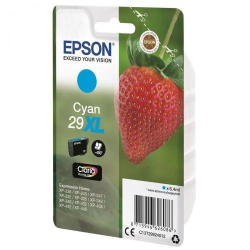 Epson No. 29XL InkJet Cartridge 450pp 6.4ml Cyan Ref C13T29924012