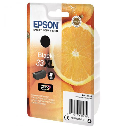 Epson T33XL Inkjet Cartridge Capacity 12.2ml Black Ref C13T33514012