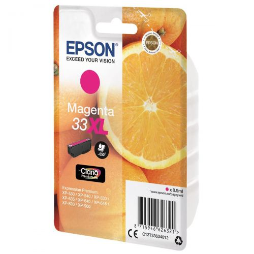Epson T33XL Inkjet Cartridge Capacity 8.9ml Magenta Ref C13T33634012