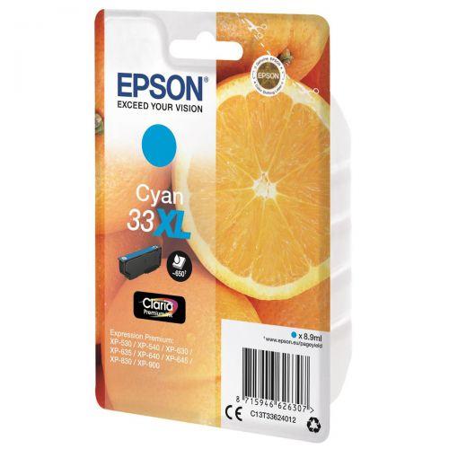 Epson T33XL Inkjet Cartridge Capacity 8.9ml Cyan Ref C13T33624012