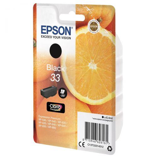 Epson T33 Inkjet Cartridge Capacity 6.4ml Black Ref C13T33314012