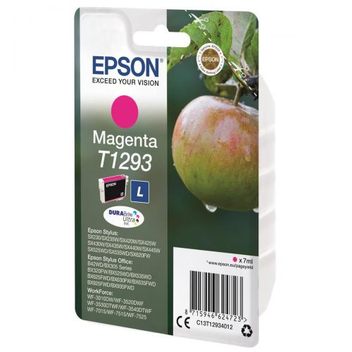Epson T1293 Inkjet Cartridge DURABrite Apple L Capacity 7ml Magenta Ref C13T12934012
