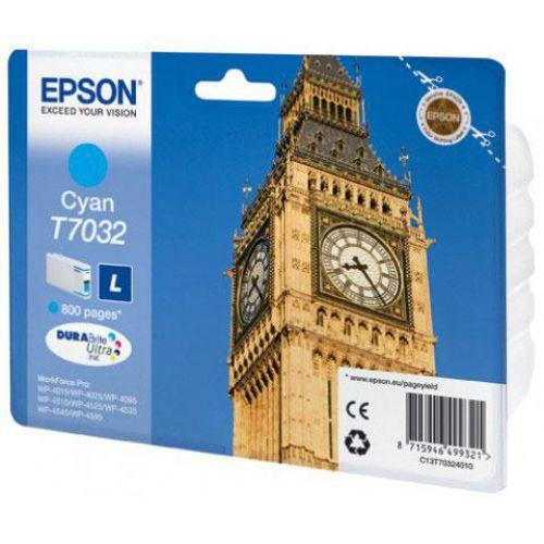 Epson T7032 Inkjet Cartridge Big Ben Page Life 800pp Cyan Ref C13T70324010