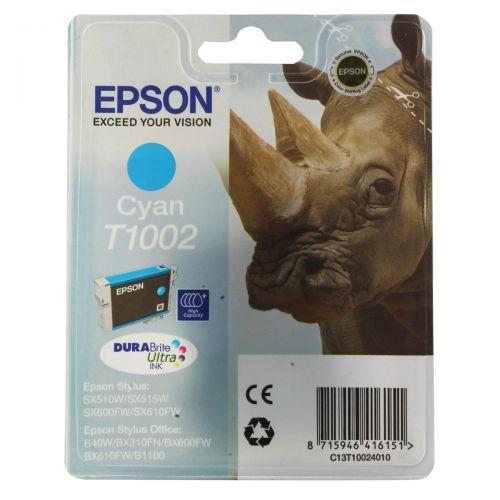 Epson T1002 Inkjet Cartridge DURABrite Ultra Rhino Cyan Ref C13T10024010