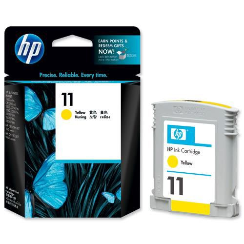 Hewlett Packard [HP] No. 11 Inkjet Cartridge Page Life 1750pp 28ml Yellow Ref C4838A