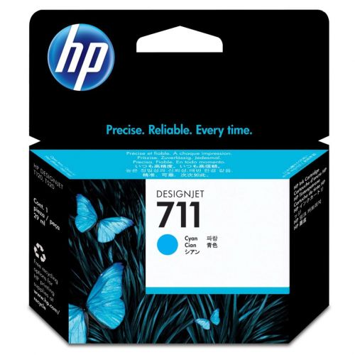 Hewlett Packard [HP] No. 711 Inkjet Cartridge 29ml Cyan Ref CZ134A [Pack 3]
