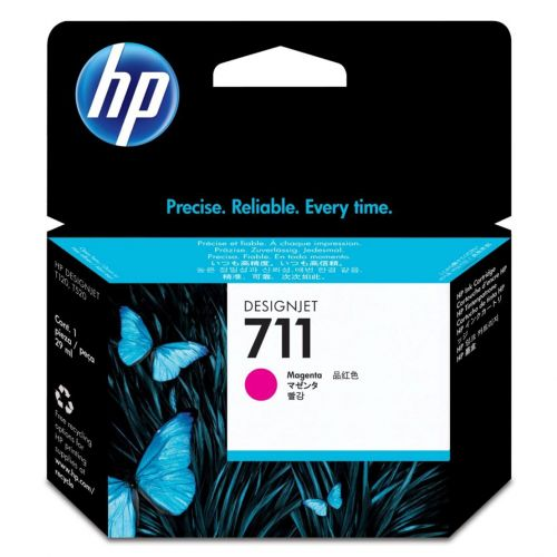 Hewlett Packard [HP] No. 711 Inkjet Cartridge 29ml Magenta Ref CZ135A [Pack 3]
