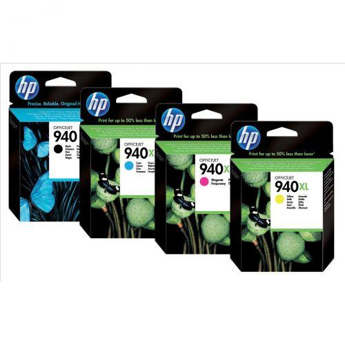 Hewlett Packard [HP] No. 940XL Inkjet Cartridge Colour Ref C2N93AE [Pack 4]