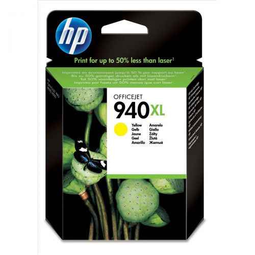 Hewlett Packard [HP] No. 940XL Officejet Inkjet Cartridge Page Life 1400pp Yellow Ref C4909AE