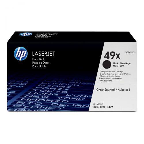 Hewlett Packard [HP] No. 49X Laser Toner Cartridge Page Life 12000pp Black Ref Q5949XD [Dual Pack]