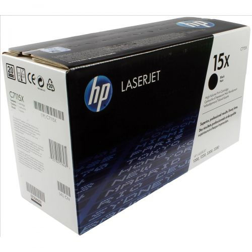 Hewlett Packard [HP] No. 15X Laser Toner Cartridge Page Life 3500pp Black Ref C7115X
