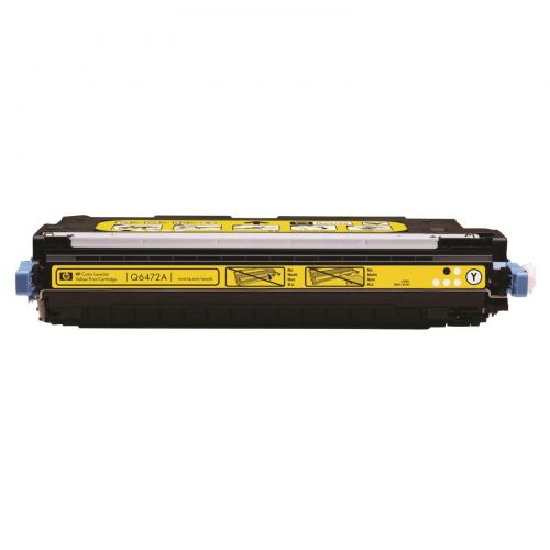 Hewlett Packard [HP] No. 502A Laser Toner Cartridge Page Life 4000pp Yellow Ref Q6472A