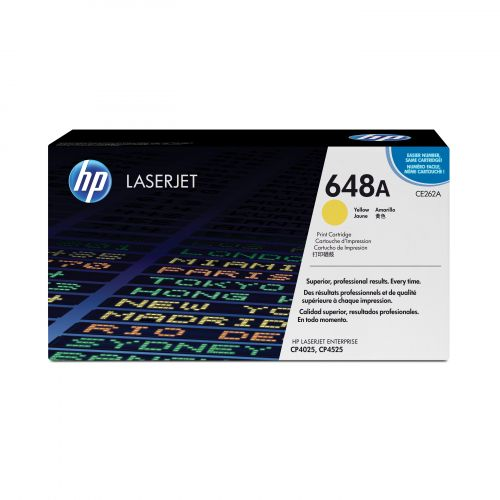 Hewlett Packard [HP] No. 648A Laser Toner Cartridge Page Life 11000pp Yellow Ref CE262A