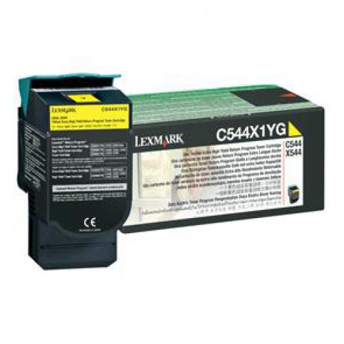 Lexmark Laser Toner Cartridge High Yield Page Life 4000pp Yellow Ref C544X1YG
