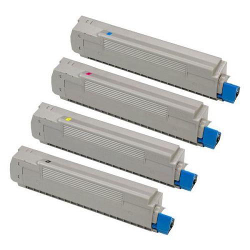 OKI Laser Toner Cartridges Page Life 6000pp Black/Cyan/Magenta/Yellow Ref 43698501 [Pack 4]