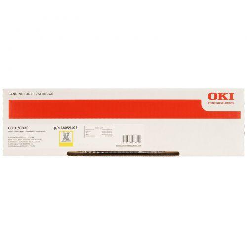 OKI Laser Toner Cartridge Page Life 8000pp Yellow Ref 44059105