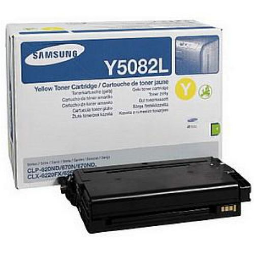 Samsung Laser Toner Cartridge High Yield Page Life 4000pp Yellow Ref CLT-Y5082L/ELS
