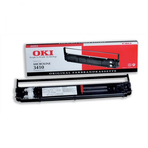 OKI Ribbon Cassette Fabric Nylon Black [for 3410] Ref 09002308