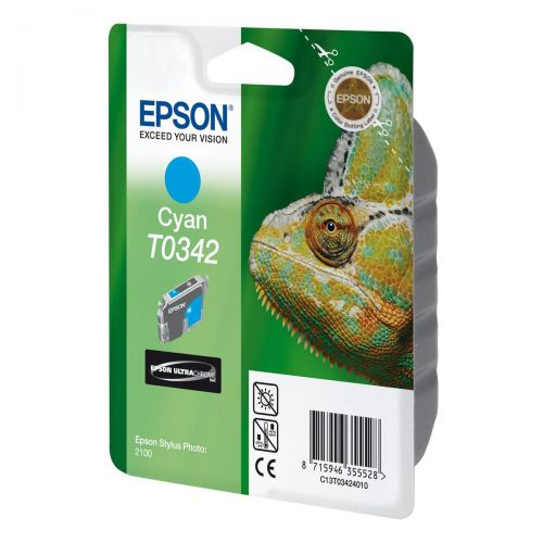 Epson T0342 17ml Cyan InkCartridge for Stylus Photo 2100 Printer Ref C13T03424010 *3 to 5 Day Leadtime*