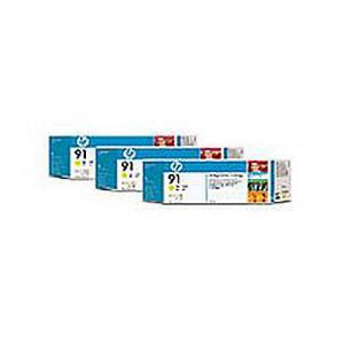 HP Bundle Multipacks 3x91 Ink Cartridge 775 ml with Vivera Ink Yellow Ref C9485A