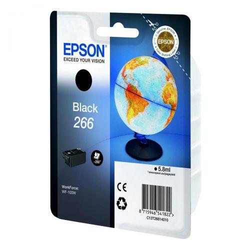 Epson T266 Inkjet Cartridge Page Life Black 250pp C13T26614010