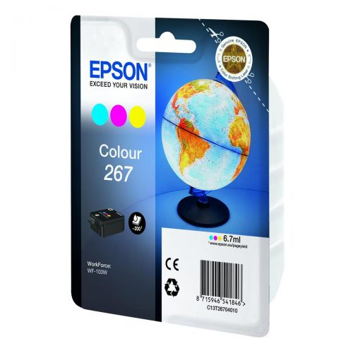 Epson T267 Inkjet Cartridge Page Life Colour 200pp C13T26704010