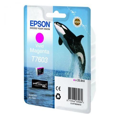 Epson T7603 Ink Cartridge Dolphin 25.9ml Magenta Ref C13T76034010