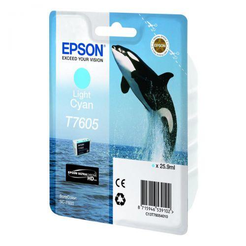 Epson T7605 Ink Cartridge Dolphin 25.9ml Light Cyan Ref C13T76054010