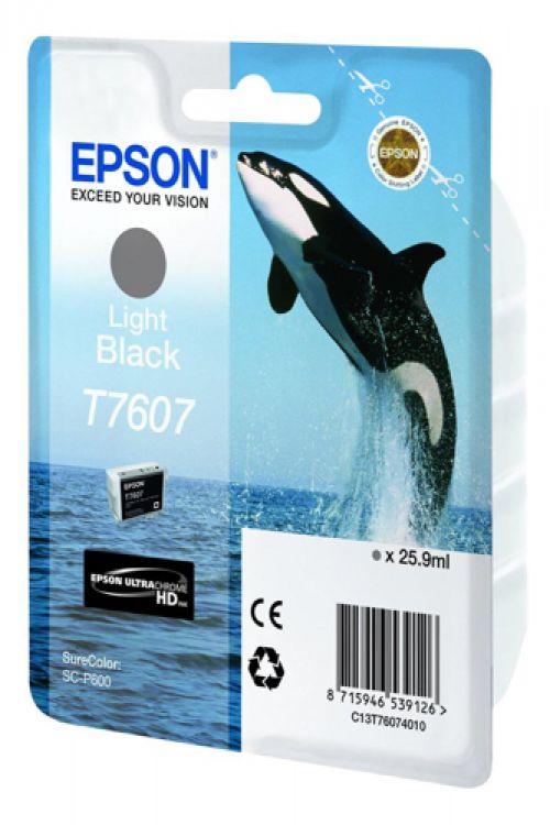 Epson T7607 Ink Cartridge Dolphin 25.9ml Light Black Ref C13T76074010