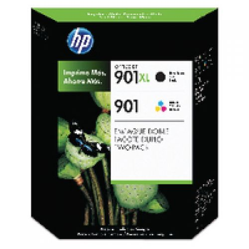 HP No.901XL/901 Inkjet Cartridge PageLife 700pp Black 14ml 360pp Colour 9ml Black&Colour [Pk2] RefSD519AE