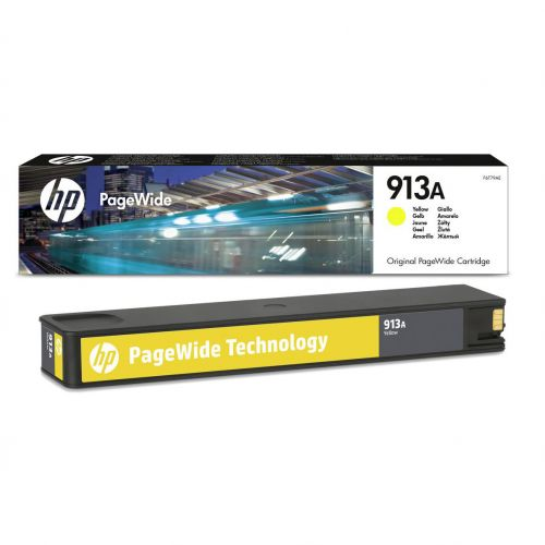 Hewlett Packard [HP] No.913A Ink Cartridge Page Life 3000p Capacity 37ml Yellow Ref F6T79AE