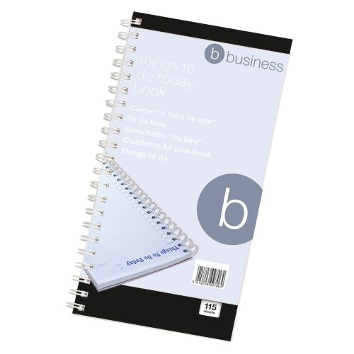 Business Things To Do Today Book Wirebound 6 Months 115 Pages 280x140mm