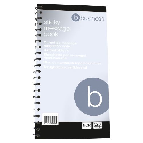 Business Telephone Message Book Wirebound Carbonless Sticky 320 Notes 80 Pages 279x152mm