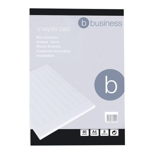 Business Analysis Pad Ruled 70gsm 8 Cash Column 80 Leaf A4