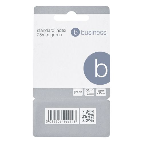 Business Standard Index Flags 50 Sheets per Pad 25x45mm Green [Pack 5]
