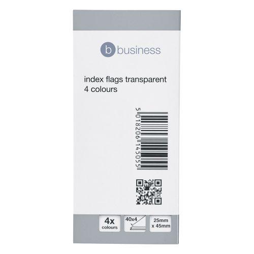 Business Index Flag Transparent Assorted [Pack 5]