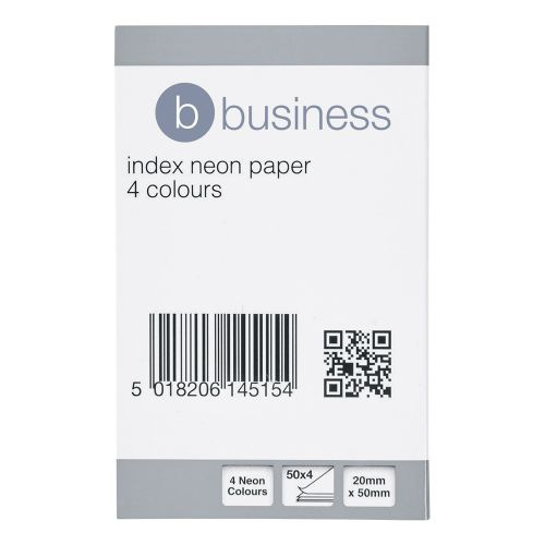 Business Index Flags Neon 20x50mm 50 Sheets per Colour Assorted [Pack 5]