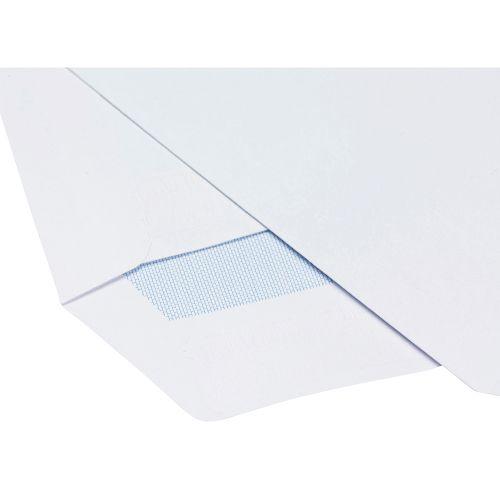 Business Envelopes Pocket Self Seal Window 90gsm White C5 [Pack 500]