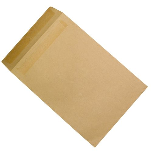 Business Envelopes Mediumweight Pocket Self Seal 90gsm Manilla C4 [Pack 250]