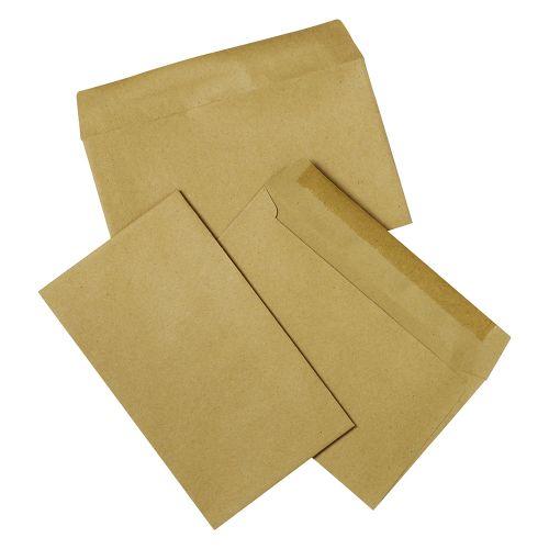 Business Envelopes Recycled Lightweight Wallet Gummed 75gsm Manilla 89x152mm [Pack 2000]