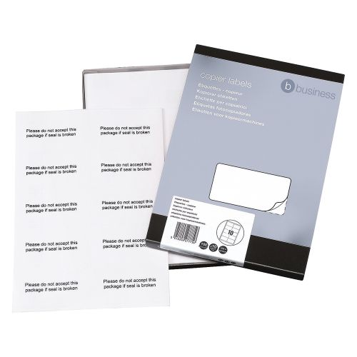 Business Multipurpose Labels Laser 10 per Sheet 105x58mm White [1000 Labels]