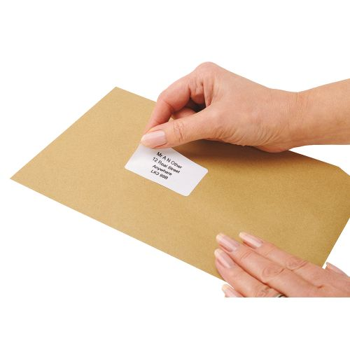 Business Addressing Labels Inkjet 21 per Sheet 63.5x38.1mm White [2100 Labels]