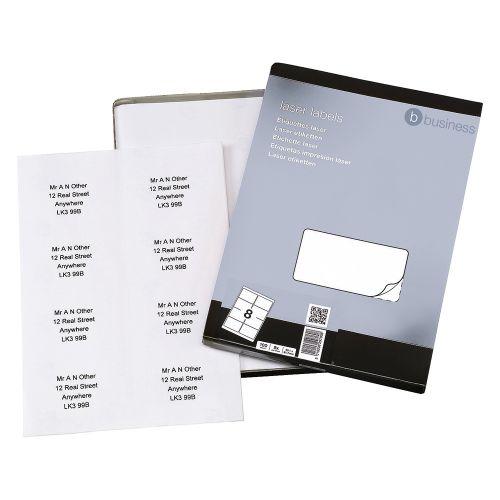 Business Multipurpose Labels Laser 8 per Sheet 99.1x67.7mm White [800 Labels]