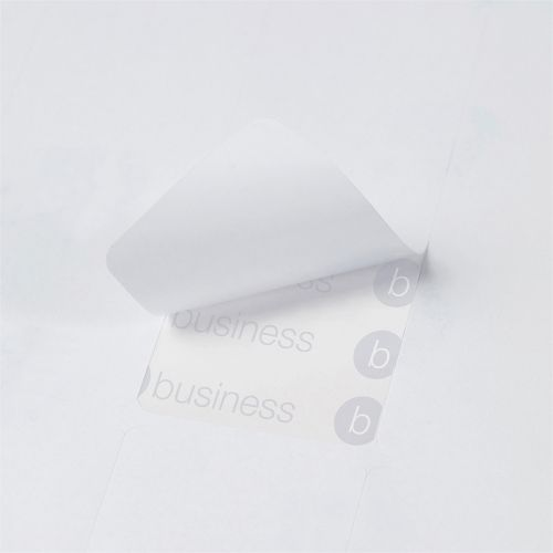 Business Multipurpose Labels Laser Copier Inkjet 16 per Sheet 99x34mm White 8000 Labels [Pack 500]